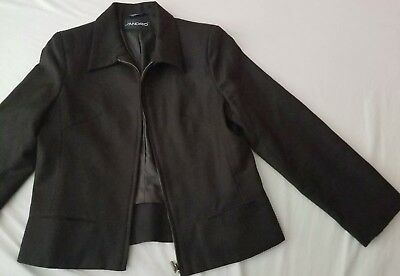 Sandro Cropped Blazer Jacket  Size  12p US  sz M Brown Career made in Russia