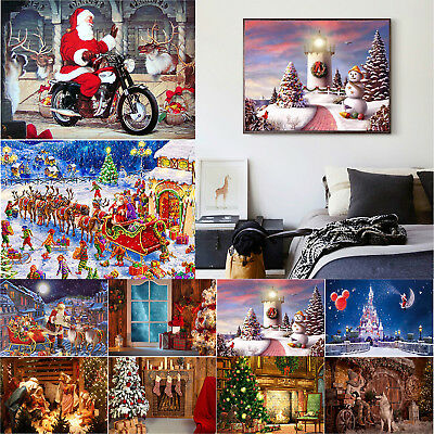 5D DIY Full Drill Diamond Painting Christmas Xmas Series Cross Stitch Embroidery