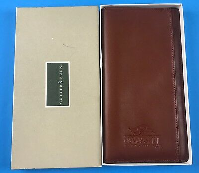 Disney Cruise Castaway Club Cutter and Buck Leather Travel Wallet