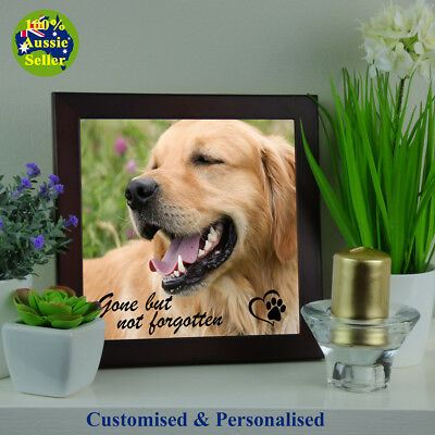 Dog Pet Memorial Photo Plaque. Personalised. Your Photo & Script.