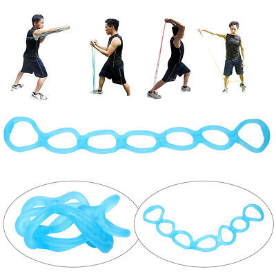 Yoga Resistance Bands 7 Holes Silicone Fitness Pull Rope Body Training Tools New