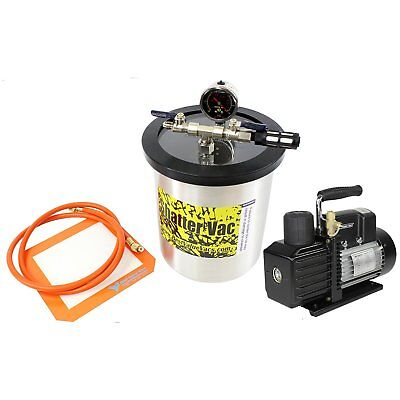 Best Value Vacs SVac 1.5 Gallon Tall Stainless Steel Vacuum Chamber and VE22 ...