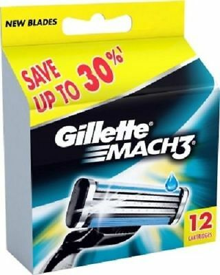 Gillette Mach3 Pack Of 12 Cartridges, Men's Shaving Blades For Razor - Mach 3
