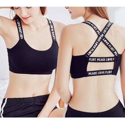 Women Stretch Running Sports Bra Fitness Tank Crop Tops Workout Gym Yoga Vest