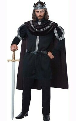 Dark Monarch King Prince Plus Size Adult Medieval Halloween Renaissance Costume