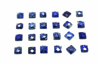 Faceted Cabochon Cut AA Natural Lapis Lazuli Loose Square Gemstone Wholesale Lot