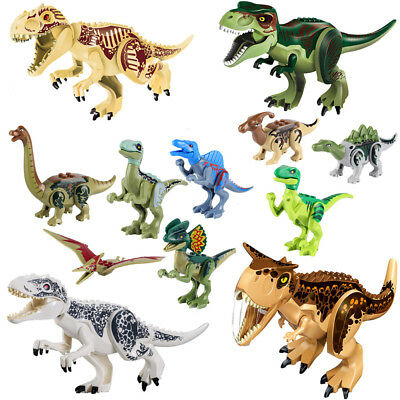 8-12Pcs Kids Building Blocks Park Dinosaur Toys World Toy Gift Animal Action
