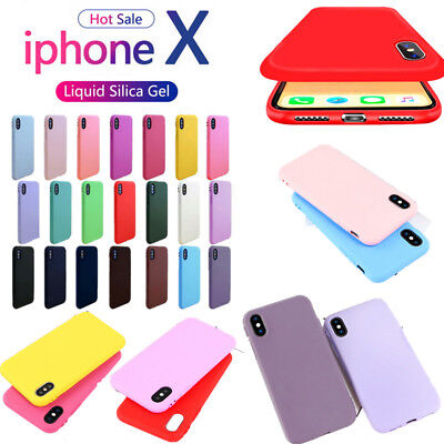 For iPhone XS 8 7 6S Plus Candy Color Ultra Thin Slim Rubber TPU Case Soft Cover