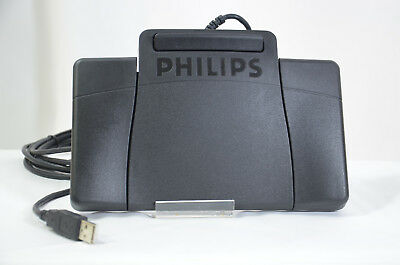 Philips USB Foot Control Pedal LFH2330 Four Function For Transcription Dictation