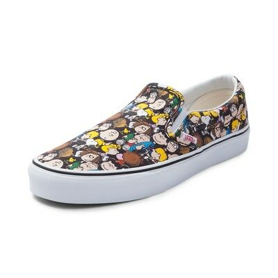 81dace1f4358f8 Vans x Peanuts Classic Slip-Ons The Gang Black Choose Your Size Kids and  Toddler