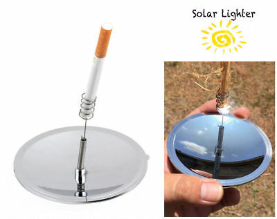 Solar Cigarettes Lighter Windproof Cigarette Tobacco Camping Lighters for  Gift