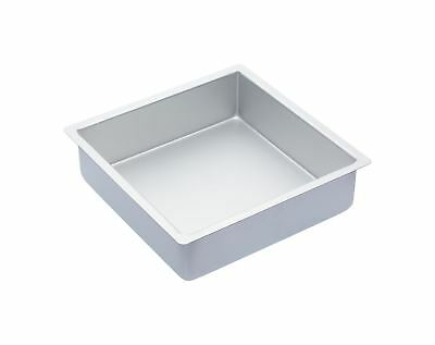 MasterClass Silver Anodised 25cm Square Deep Cake Pan