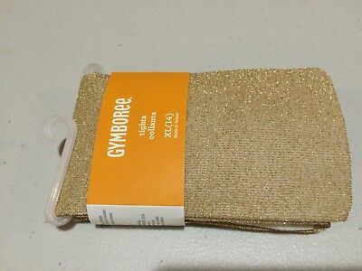 NWT Gymboree girls tights Gold Sparkle cosmic club Holiday 10/12