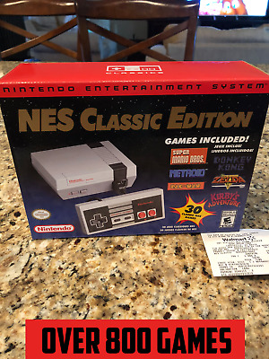 Authentic Nintendo NES Classic Edition Mini With 800+ Games Professionally Mod