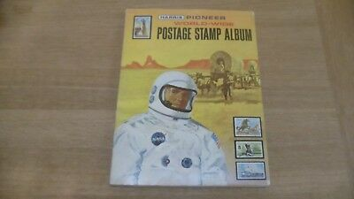 Harris Pioneer World-Wide Postage Stamp Album 1972 - & over 1,500+ Stamps