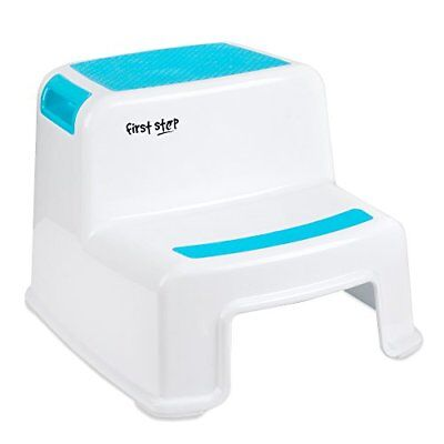 First Step Dual Height Step Stool - Non Slip Step Stool for Kids - Step Stool -