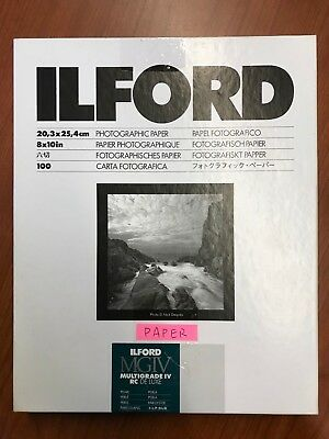Ilford RC Photographic Paper 8x10''