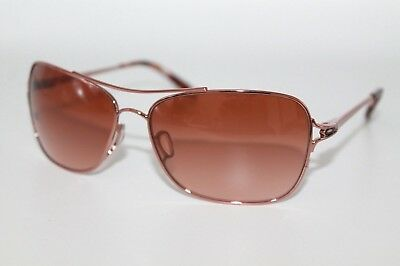 1557b5acf9 Oakley Conquest Sunglasses OO4101-02 Rose Gold Frame W  Brown Gradient Lens