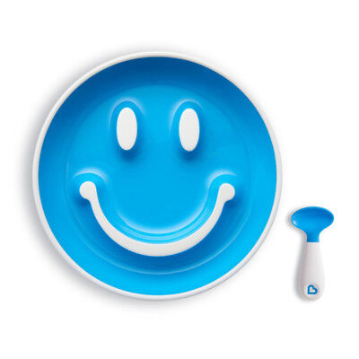 Munchkin Smile n Scoop Suction Plate and Training Spoon