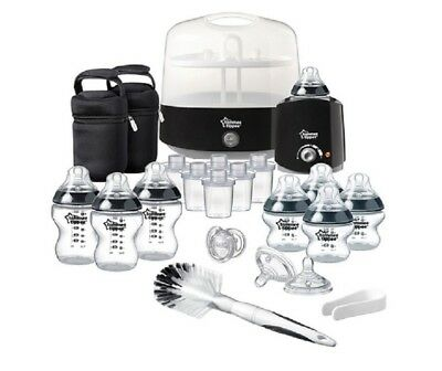 Tommee Tippee Electric Steam Steriliser Baby Bottle Complete Feeding Set Black