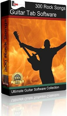 300 Greatest Hits Rock Songs For Bass & Guitar | Tab Dvd + Tablature Song Book