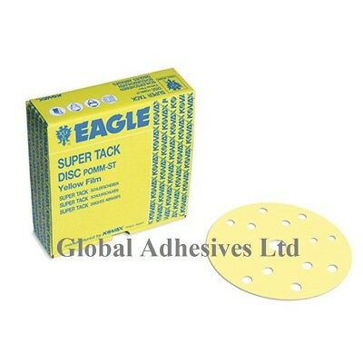 KOVAX Eagle 6' 150mm SUPER-TACK Yellow Film Discs 15 Hole Grit P2000 50discs 3M