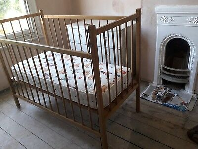 Vintage Wooden Cot plus mattress