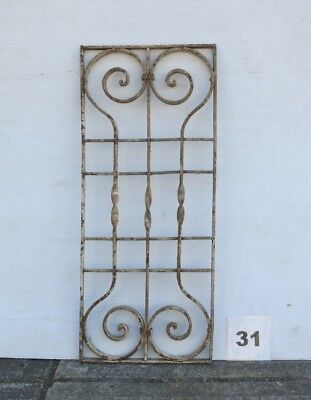 Antique Egyptian Architectural Wrought Iron Panel Grate (IS-031)