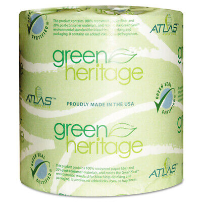 Atlas Paper Mills Toilet Tissue 4x3 Sheets 2 Ply 500/roll 96/ct 276GREEN NEW