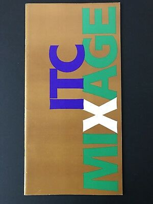 ITC Mixage, Type Specification Book, 1985, 36 pgs, graphic design, Aldo Novarese