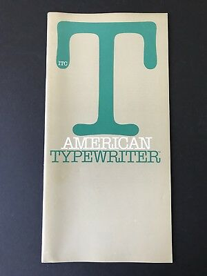 ITC American Typewriter, type specification book, 1975, 28 pg, Joel Kaden design