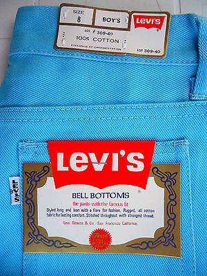 AZURE JEANS 424 Vintage Bell Bottoms 1970's - Levi's (NEW & LABELS)