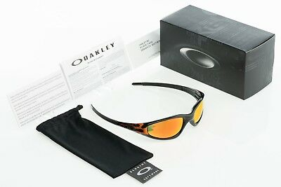 3ca303d13d GENUINE OAKLEY STRAIGHT Jacket Jet Black w Flames  Fire Iridium ...