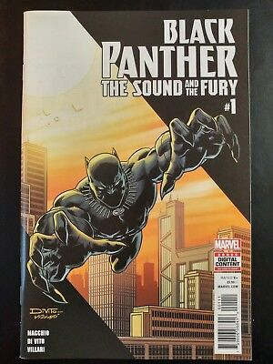 BLACK PANTHER; The Sound and Fury #1 (2018 MARVEL Comics) ~ VF/NM Comic Book