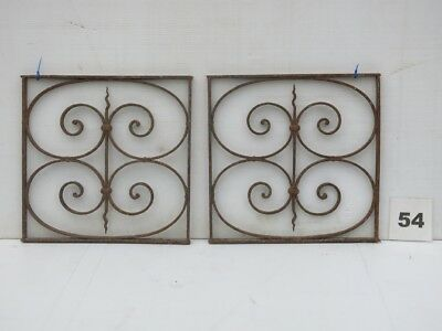 Antique Egyptian Architectural Wrought Iron Panel Grates (IS-054)