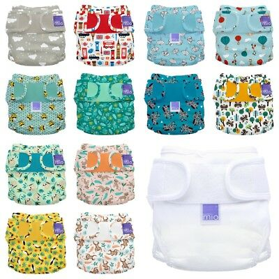 Miosoft Nappy Cover Bambino Mio Reusable Washable Cloth Water Resistant 2 Size