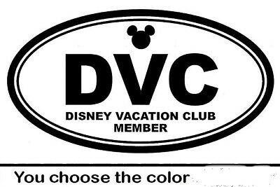 Disney Vacation Club Decal Disney World Mickey Mouse car laptop YOU PICK COLOR