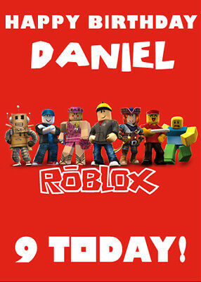 ROBLOX Personalised Birthday Card - Add your own name & age