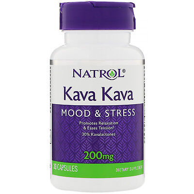 Kava Kava Herbal Relief from Stress Anxiety Tension by Natrol 30 Caps