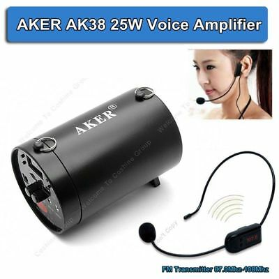 AKER AK38 Voice Booster Amplifier Speaker + FM Wireless Mic For Speaker Teacher