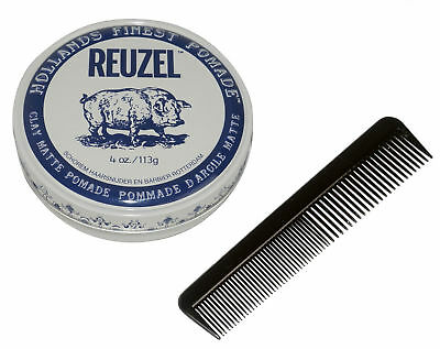 REUZEL Clay Matte Pomade Made In USA 4Oz 113g Free Comb NEW