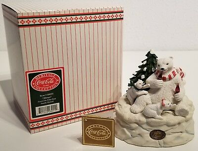 Coca-Cola - ALWAYS - Polar Bear Family Musical Figurine - Heritage Collection