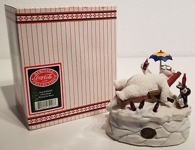 Coca-Cola - COOL BREAK - Polar Bear Musical Figurine - Heritage Collection