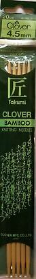Clover Bamboo Double Pointed Needles 16cm & 20cm lengths