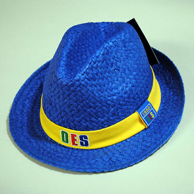 Order of the Eastern Star Fedora Style Straw Hat- Blue- New!