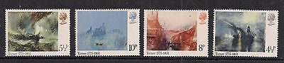 GB 1975 QE2 Bic. J.M.W.Turner Painter set of 4 Umm stamps ( B3 )