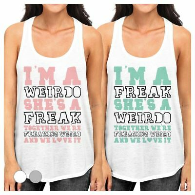 94867f962 WEIRDO FREAK BFF Matching Crop Top Womens Funny Friends Gift Ideas ...