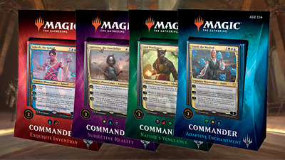 MTG COMMANDER (2018 EDITION) Magic the Gathering - Set of 4 Decks Sealed New