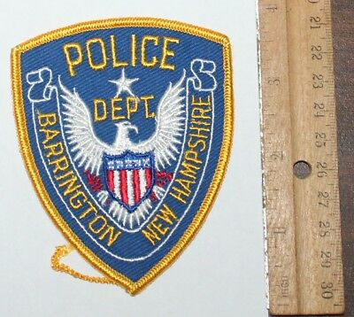 Very Old BARRINGTON POLICE DEPT New Hampshire NH PD Vintage Small patch