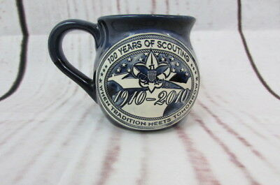 Boy Scouts of America Logo Mug Cup 100 years of Scouting BSA 3 1/2'' Tall Blue